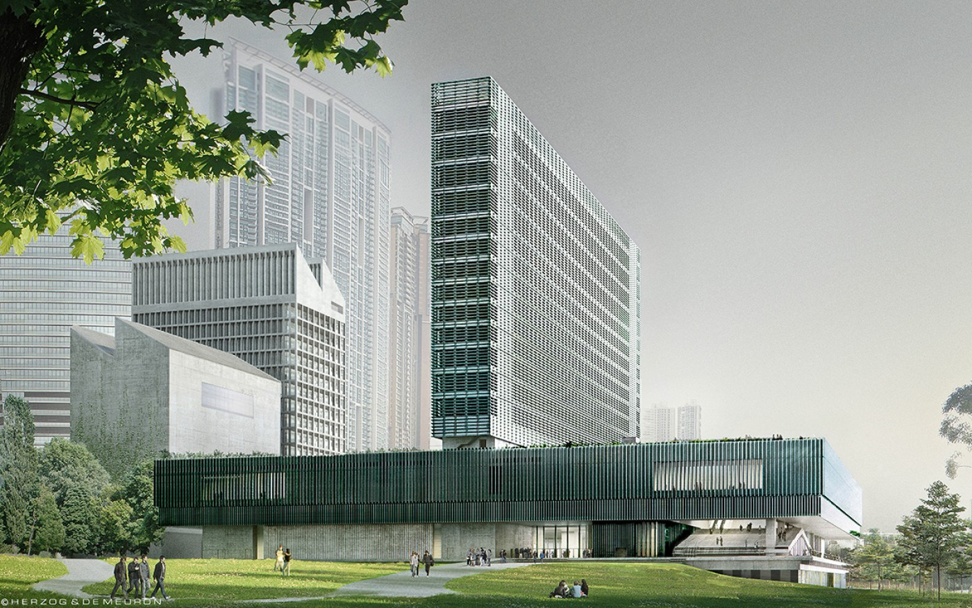 Pictured: M+, Hong Kong (image courtesy of West Kowloon Cultural District Authority and M+, Hong Kong)